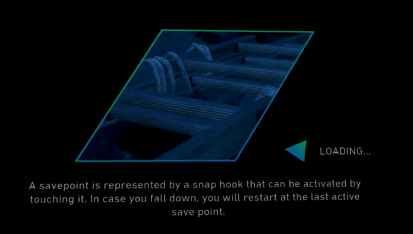 Pantalla de carga en el juego The Climb 2 de Oculus