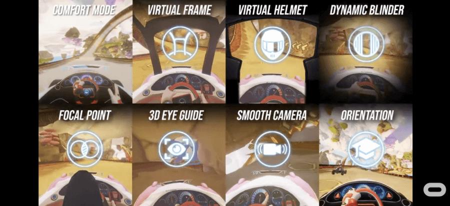 Ajustes de movimiento en el juego Dash Dash World de Oculus